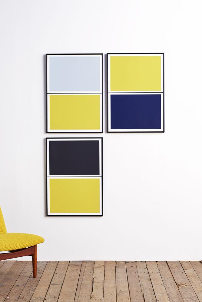Twin Tone Play Screen Print - Yuzu Yellow & Mariana Blue by Lane
