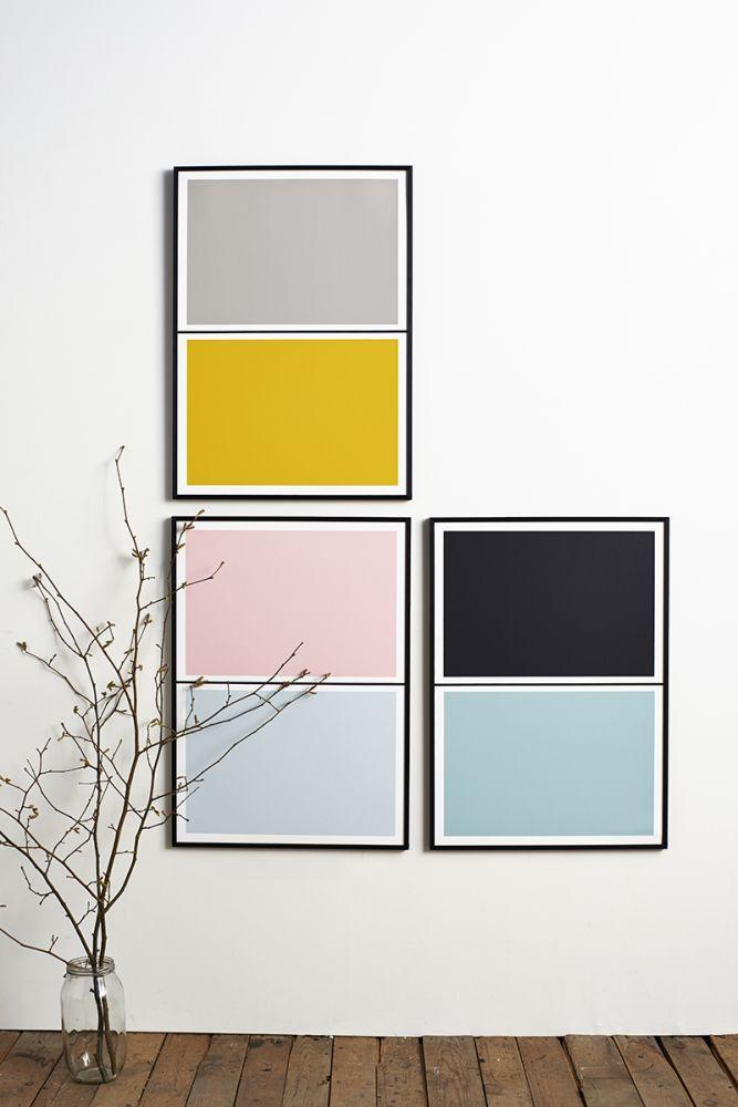 Twin Tone Play Screen Print - Granite Pink & Drift Blue by Lane