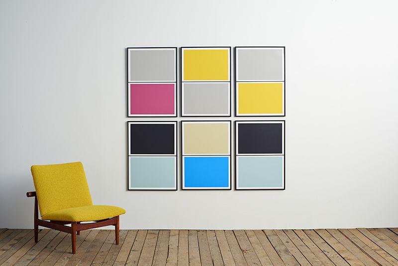 Twin Tone Play Screen Print - Smith Grey & Morning Yellow by Lane
