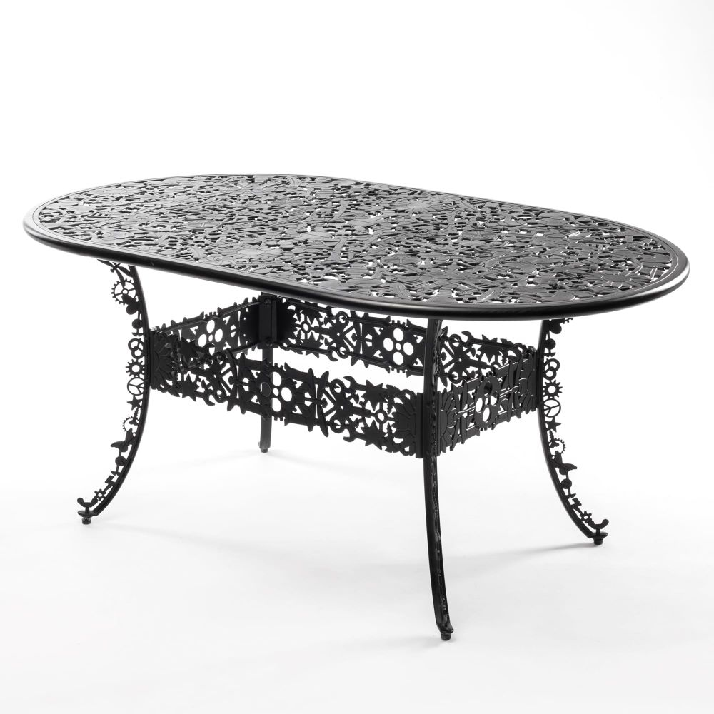 Industry Aluminium Oval Table by Seletti