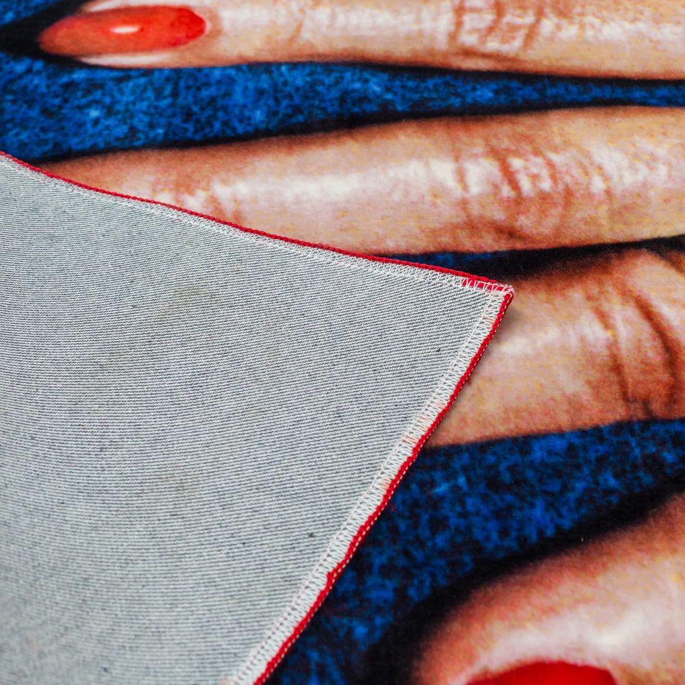 Toiletpaper Fingers Rectangular Rug by Seletti