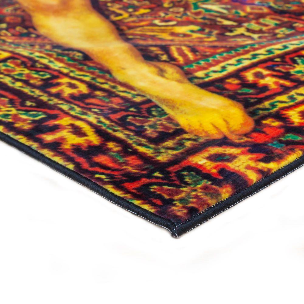 Toiletpaper Lady on Carpet Rectangular Rug by Seletti