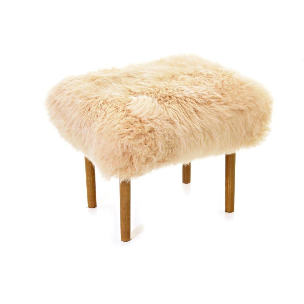 Ceri - Sheepskin Footstool by Baa Stool