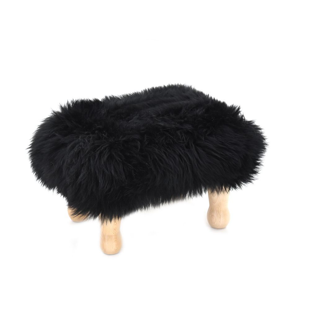 Angharad - Sheepskin Footstool  by Baa Stool