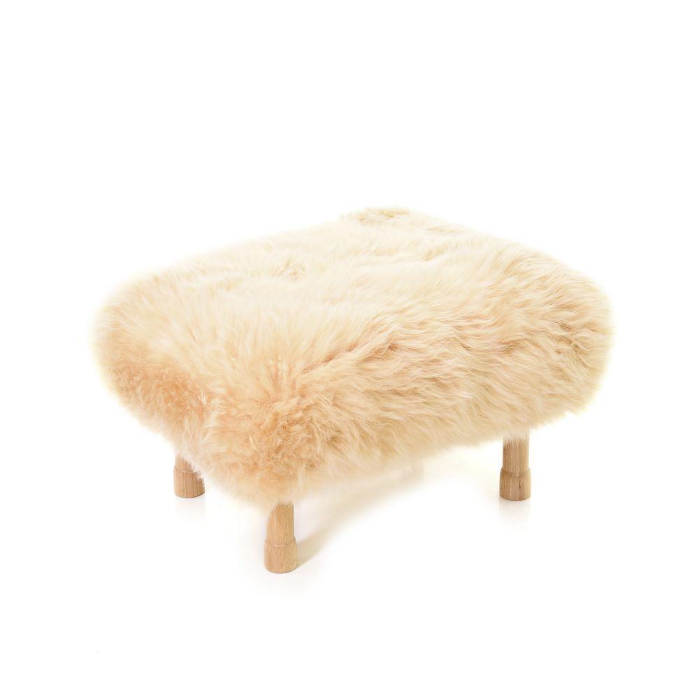 Dilys - Sheepskin Footstool  by Baa Stool