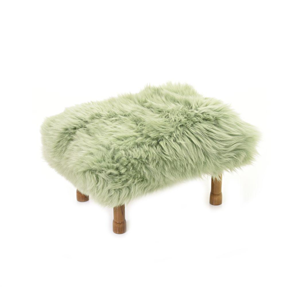Delyth - Sheepskin Footstool  by Baa Stool