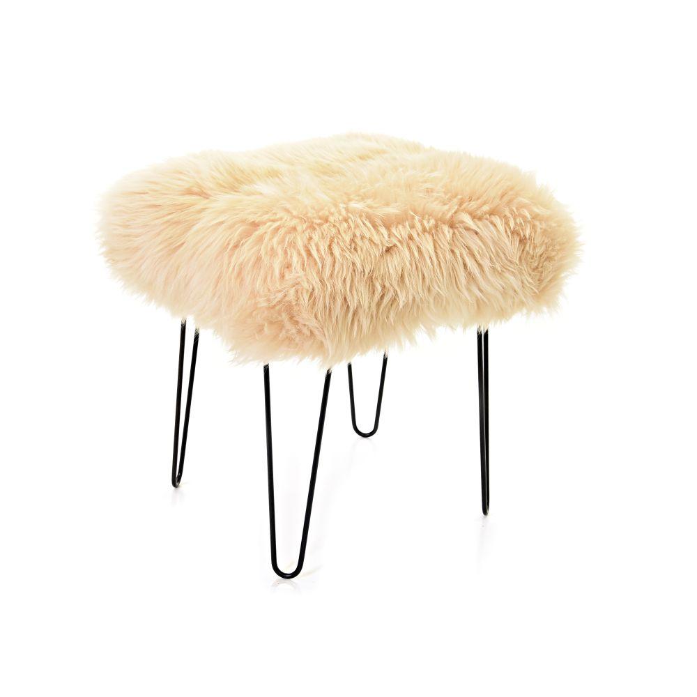 Ffleur - Sheepskin Footstool  by Baa Stool