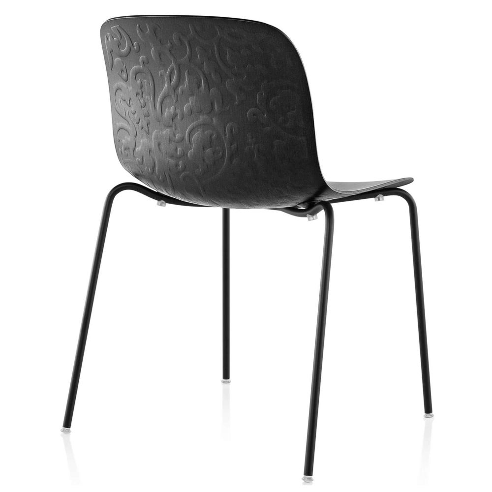 Troy Stacking Chair,  4 Legs - Set of 2 by Magis Design