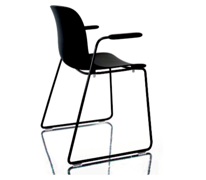 Troy Stacking Chair with arms, Sledge Base - Set of 2 by Magis Design