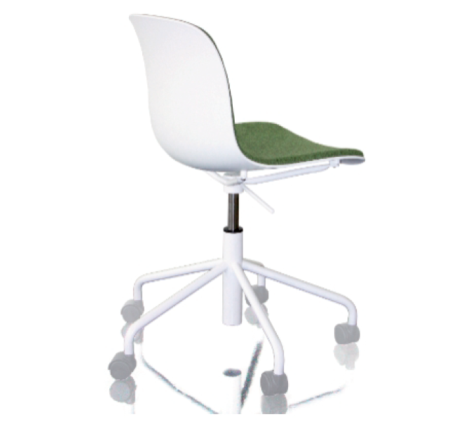 Troy Chair - Swivel Base on 5 Wheels with Front Cover by Magis Design