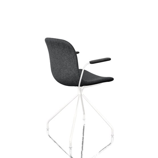 Troy Dining Chair with Armrests - 4 Star Base - Fully Upholstered by Magis Design