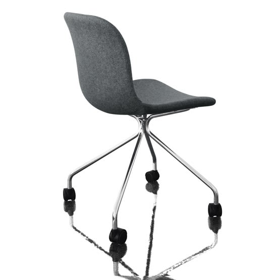 Troy Chair - 4 Star Base on Wheels - Fully Covered by Magis Design