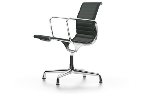 EA 107 Aluminium Chair - non Swivel, With Armrests by Vitra