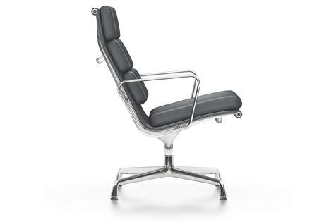 EA 216 Aluminium Soft Pad Group - Swivel, With Armrests by Vitra