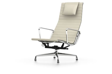 EA 124 Aluminium Chair - Swivel, With Armrests by Vitra