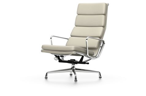 Vitra Chalres Eames : Ea 222 soft pad chair swivel with armrests 04 glides for carpet