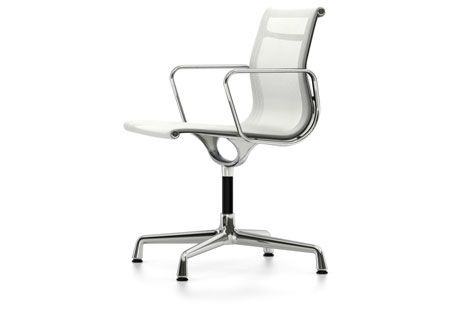 EA 103 Aluminum Chairs - Non Swivel, With Armrests by Vitra