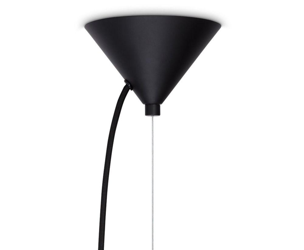Beat Waist Black Pendant Lamp by Tom Dixon