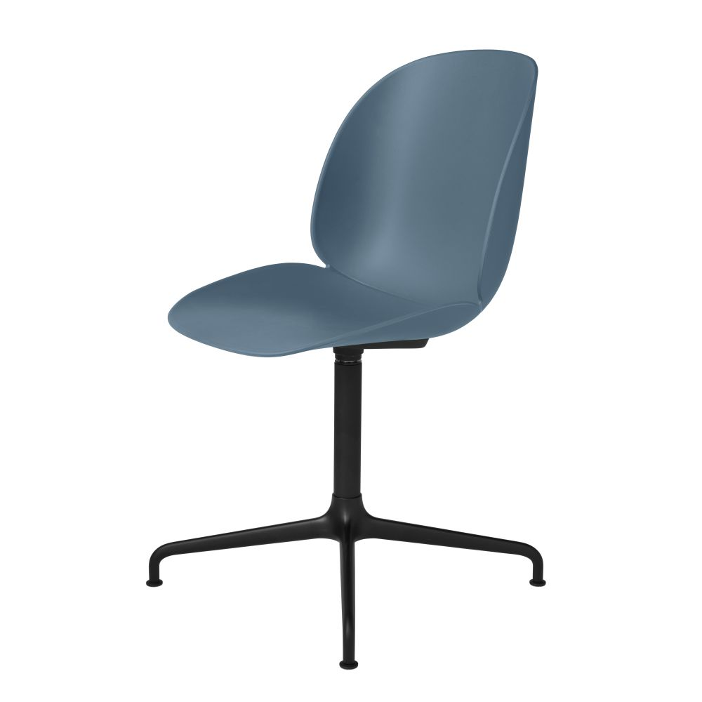 Beetle Dining Chair - Casted Swivel Base by Gubi