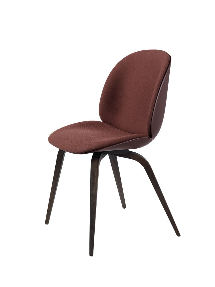 Beetle Dining Chair - Wood Base - Front Upholstered Shell by Gubi