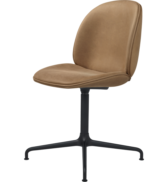 Beetle Dining Chair - Casted Swivel Base - Fully Upholstered by Gubi