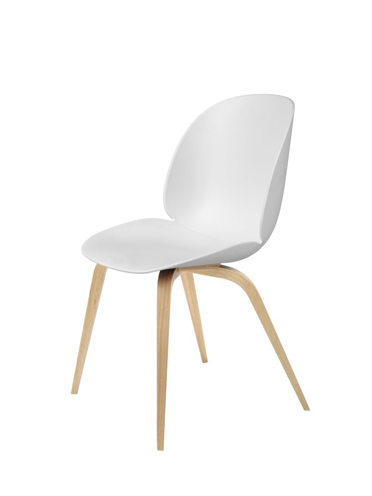 Beetle Dining Chair - Wood Base by Gubi