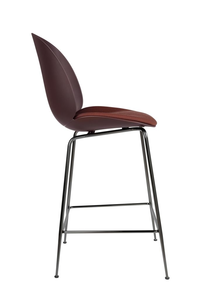Beetle Counter Chair - Seat Upholstered Shell by Gubi