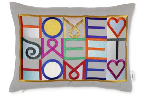 Embroidered Pillow - Home Sweet Home by Vitra
