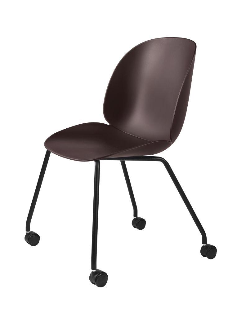 Beetle Dining Chair - Castor Base by Gubi