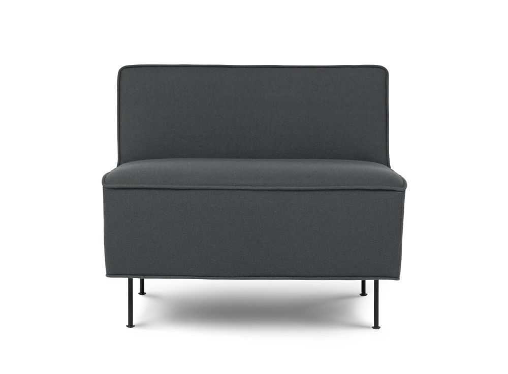 Modern Line Lounge Chair - Low by Gubi