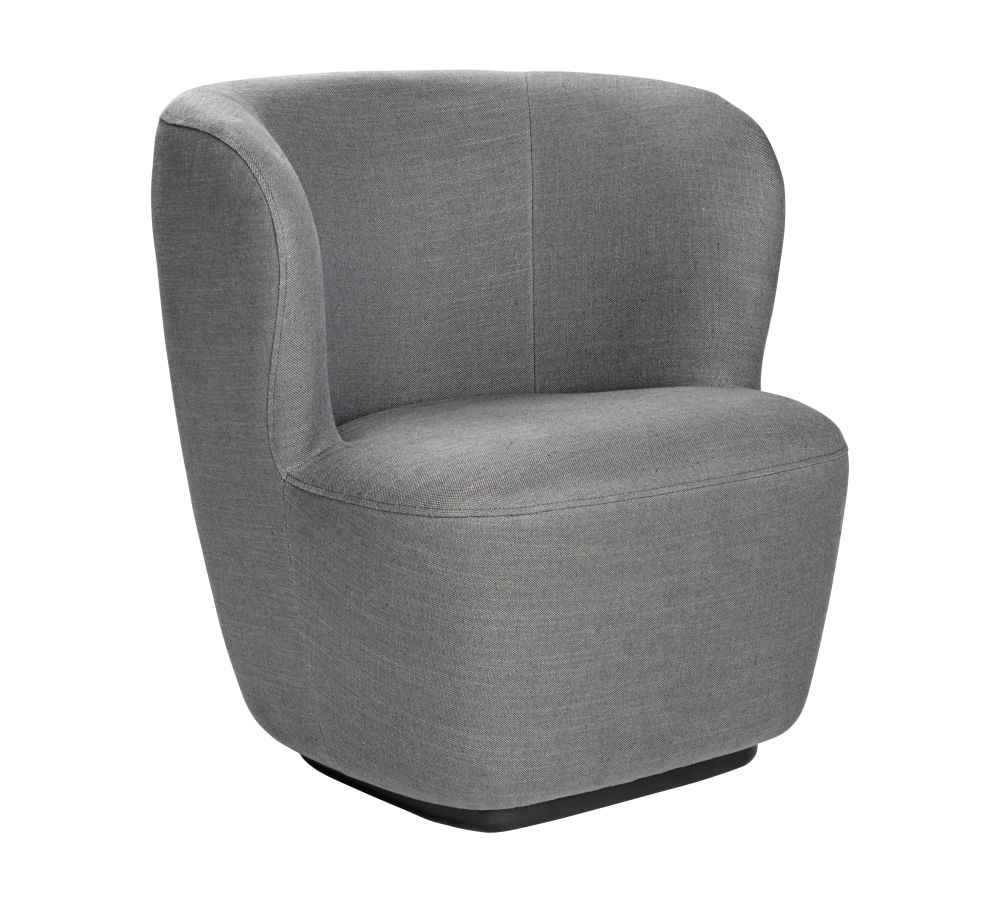 Stay Lounge Chair - Small, Returning Swivel by Gubi
