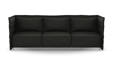 Alcove Plume Contract Three-Seater by Vitra