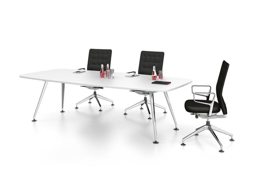 MedaMorph Boat-shaped conference table 200x100 by Vitra