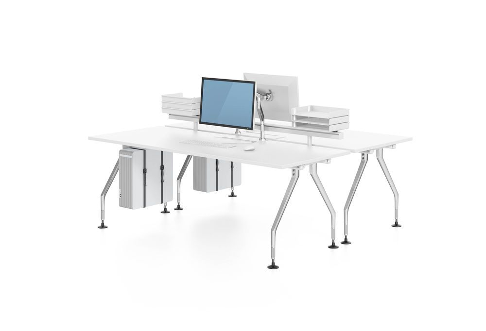 Ad Hoc Solitaires Meeting Rectangular Table by Vitra