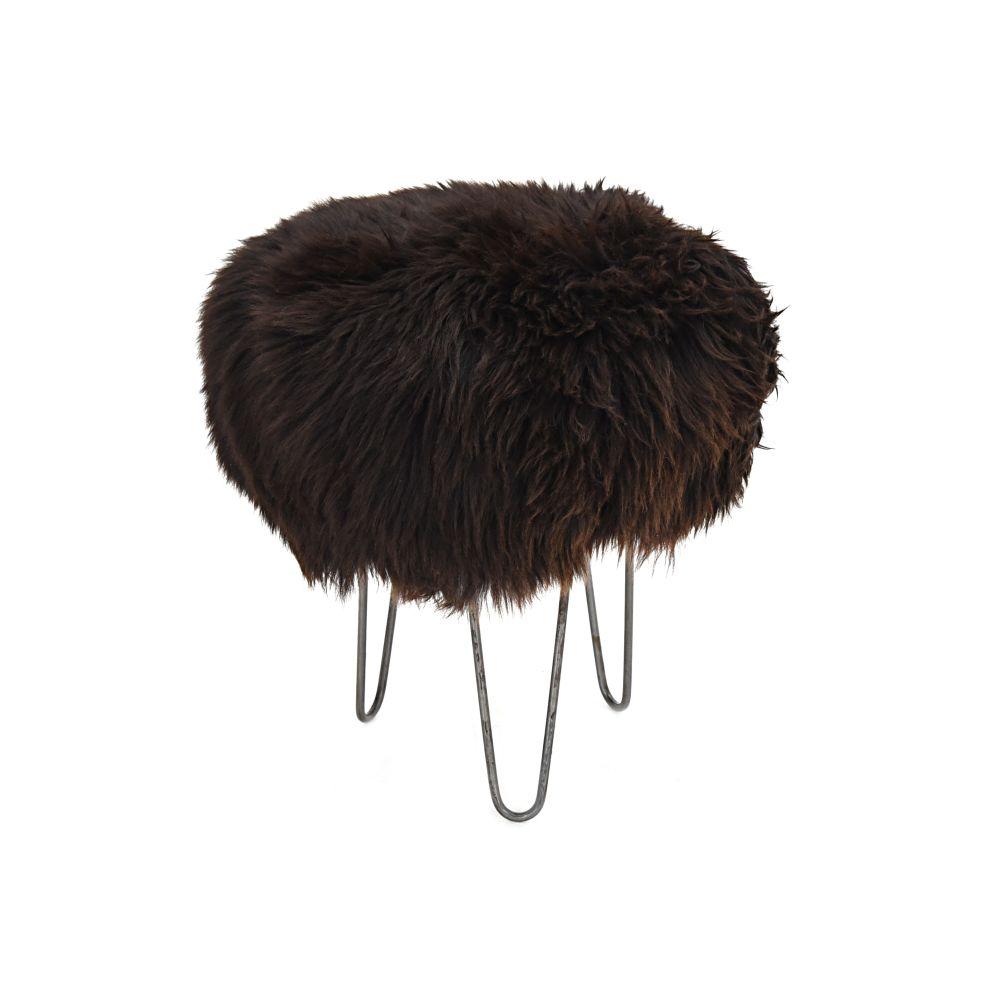 Holly - Sheepskin Footstool  by Baa Stool