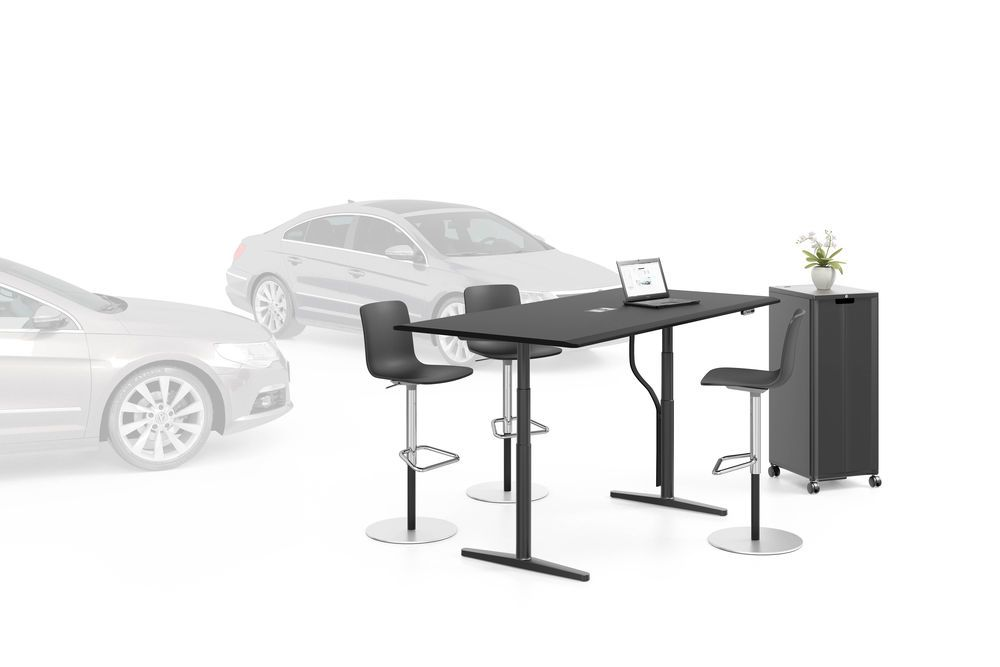 Tyde Meeting Sit-stand Meeting Table, 200 x 100 by Vitra