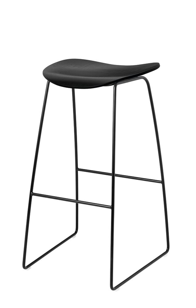 2D Un-Upholstered Sledge Base Bar Stool by Gubi