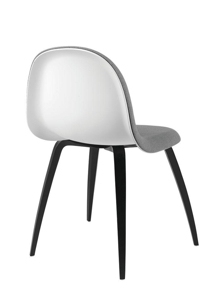 Gubi 3D Wood Base Dining Chair - Front Upholstered by Gubi