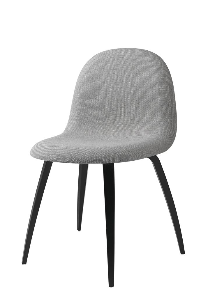 Gubi 3D Wood Base Dining Chair - Fully Upholstered by Gubi