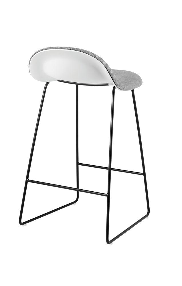 Gubi 3D Sledge Base Counter Stool - Front Upholstered by Gubi