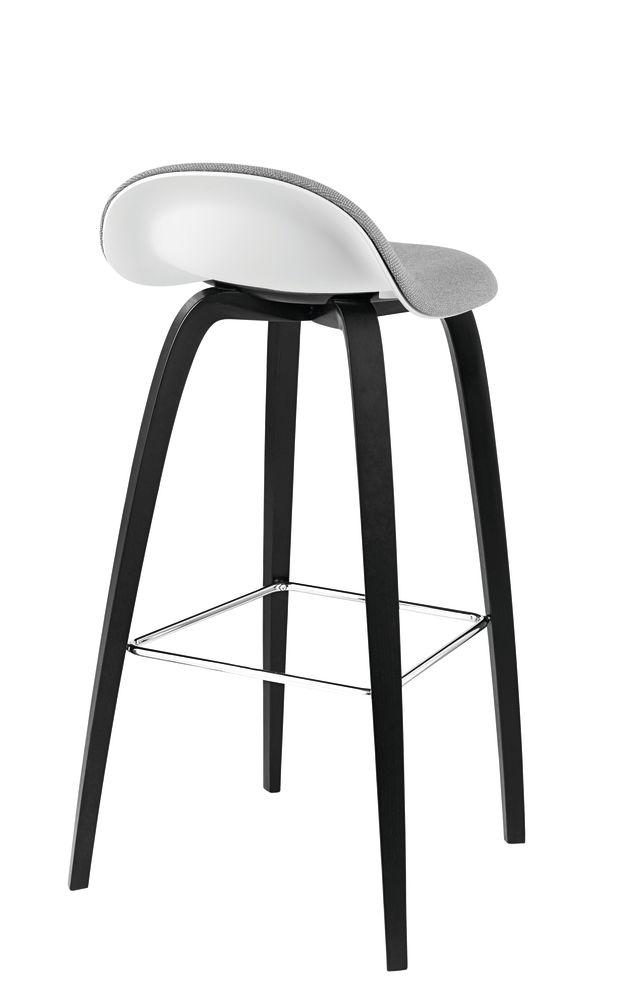 Gubi 3D Wood Base Counter Stool - Front Upholstered by Gubi
