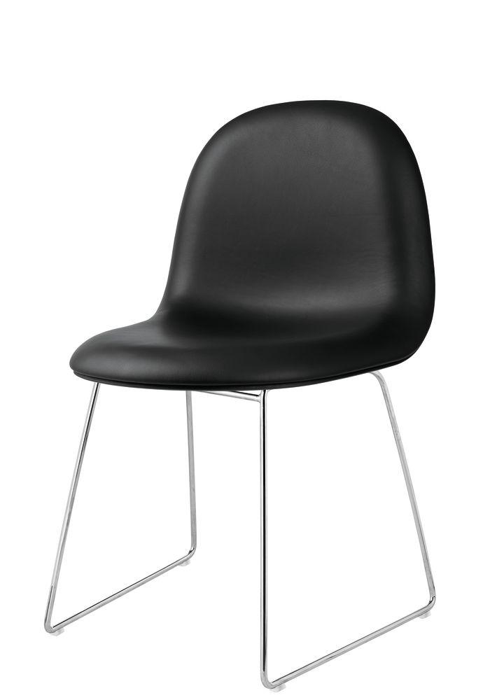 Gubi 3D Dining Chair Sledge Base - Fully Upholstered by Gubi