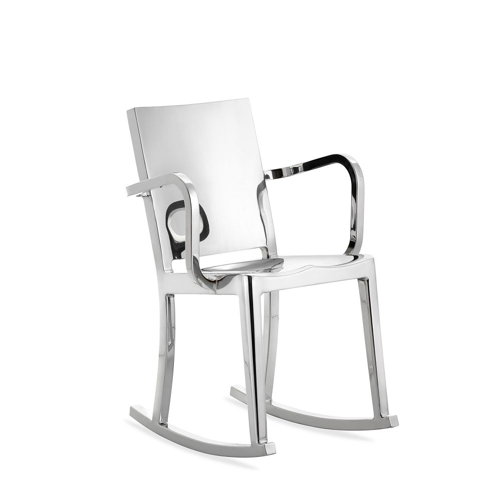 Hudson Rocking Chair with Arms by Emeco