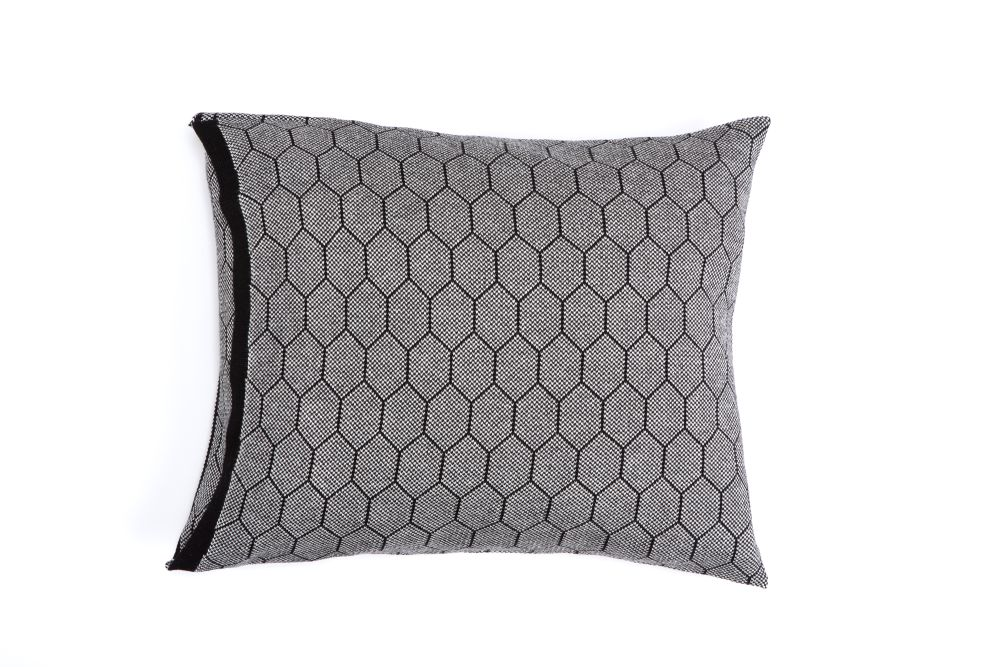Honeycomb Knitted Cushion by Mikabarr