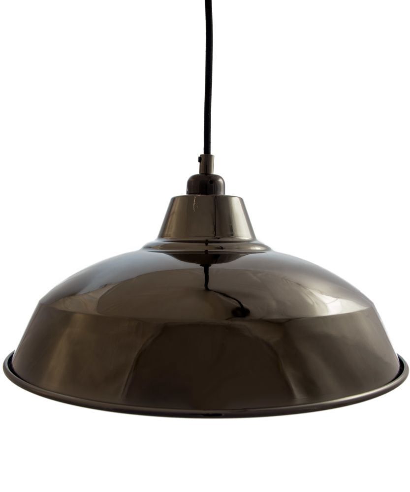 Black Chrome Industrial Lamp Shade by William and Watson