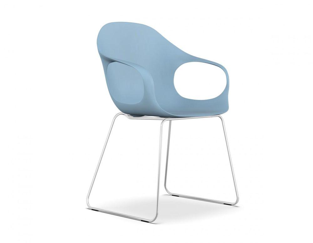Elephant Slide Frame Armchair - Polyurethane Seat by Kristalia