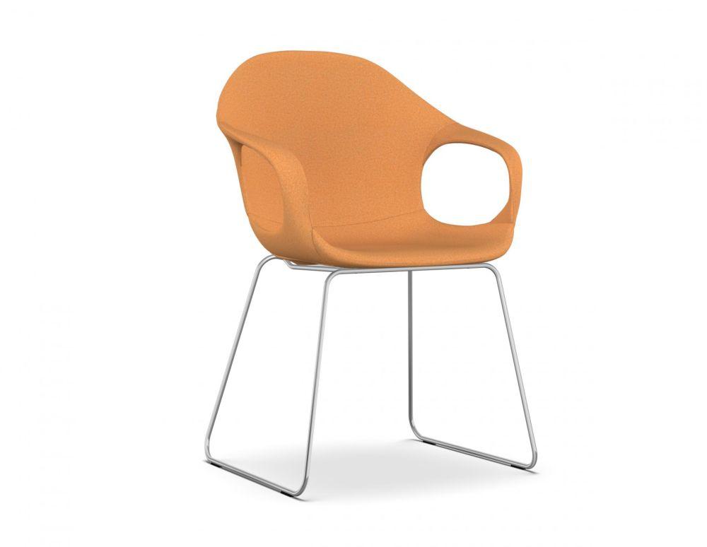 Elephant Slide Frame Armchair - Upholstered Seat by Kristalia