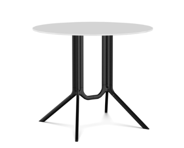 Poule Double Table, Round Fixed Top by Kristalia