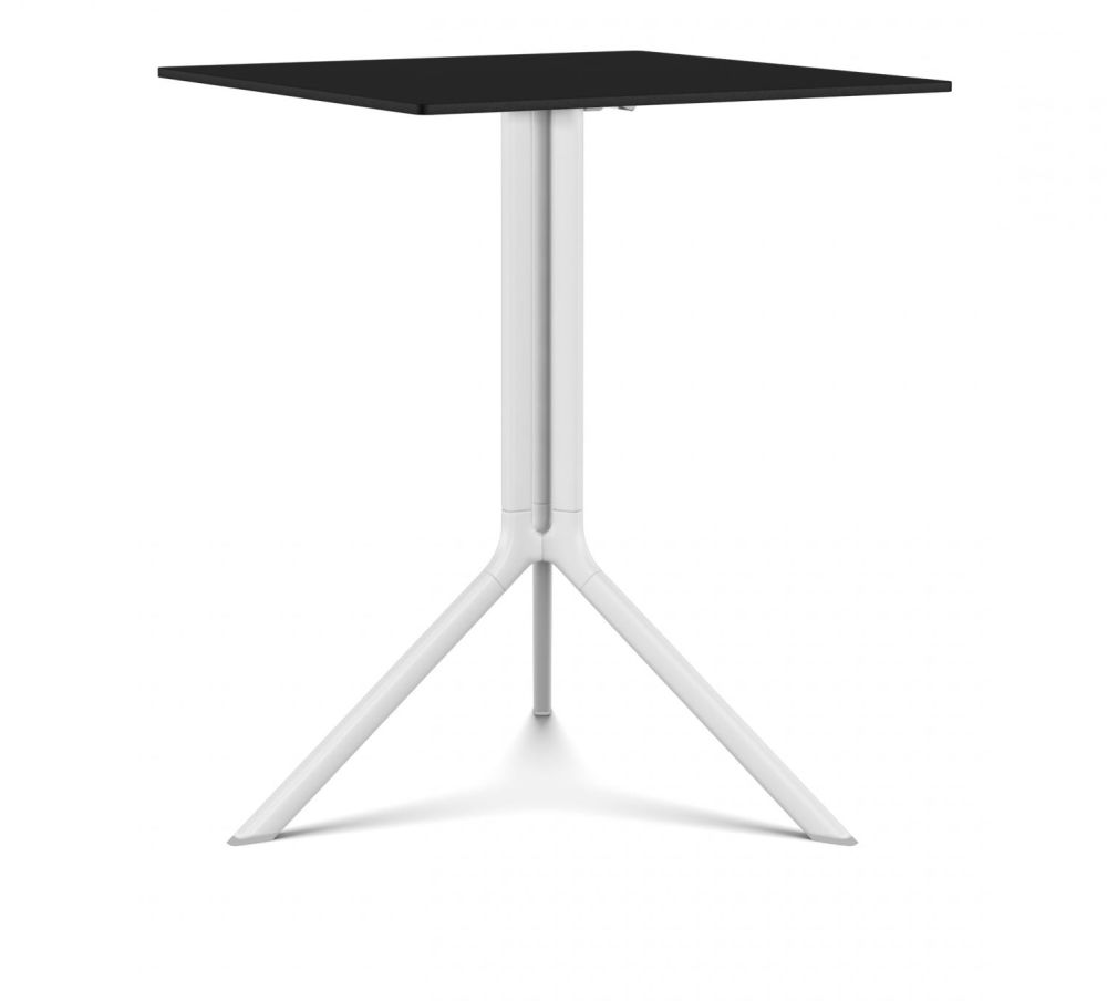Poule Square Table, Tip-up Top by Kristalia