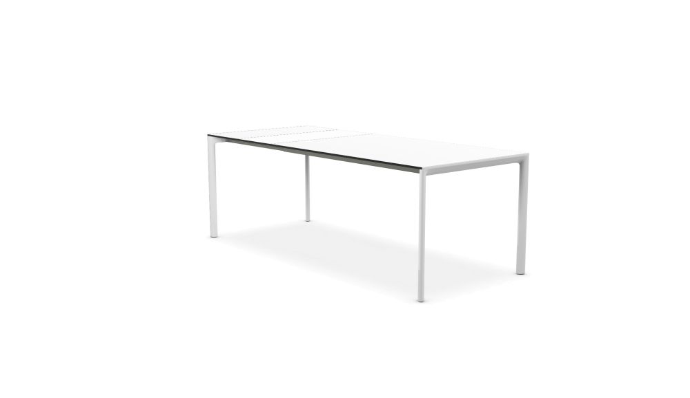 Maki Alucompact® / Pure-white / Fenix-NTM® Extensible - Depth 90 cm by Kristalia